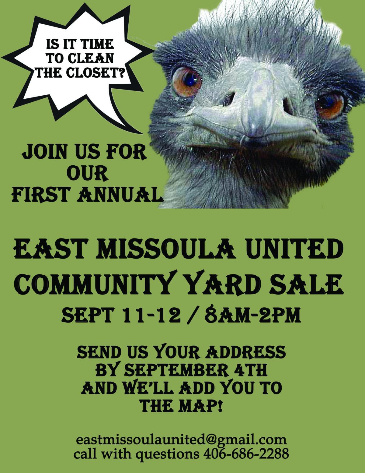 EMU Yard Sale Flyer